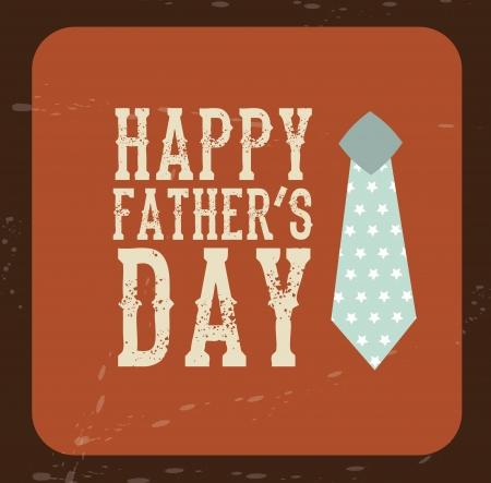 tag fathers day over vintage background vector illustration Stock Vector - 19625757