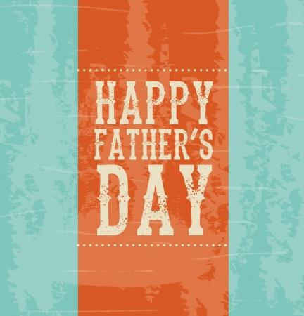 padres: Día de padres feliz sobre fondo azul, ilustración vectorial Vectores