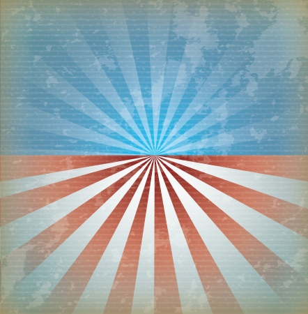 labor strong: usa flag over vintage background vector illustration Illustration