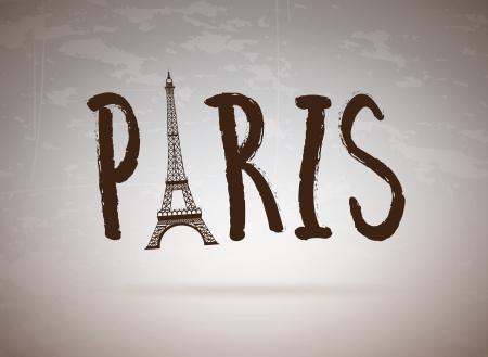 Paris label over vintage bakground vector illustration Vector