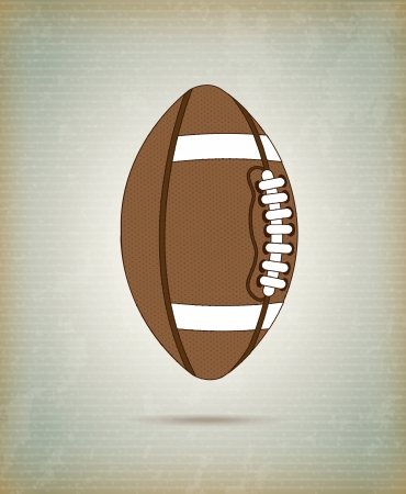 touchdown: Football ball over vintage background vector illustration