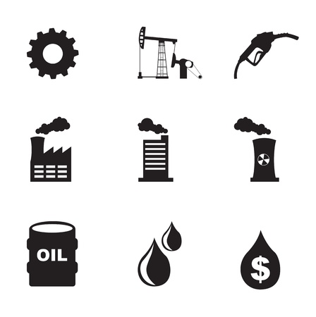 Industry icons over white background vector illustration Vector