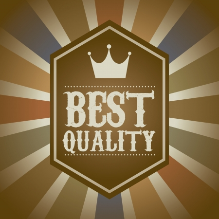 accredit: premium quality over vintage background. vector illustration