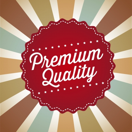 premium quality over vintage background. vector illustration Stock Vector - 19625698