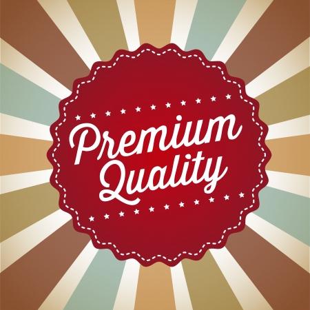 approbation: qualit� premium su sfondo vintage. illustrazione vettoriale