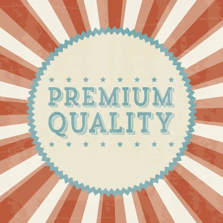 premium quality over beige background. vector illustration Stock Vector - 19625932