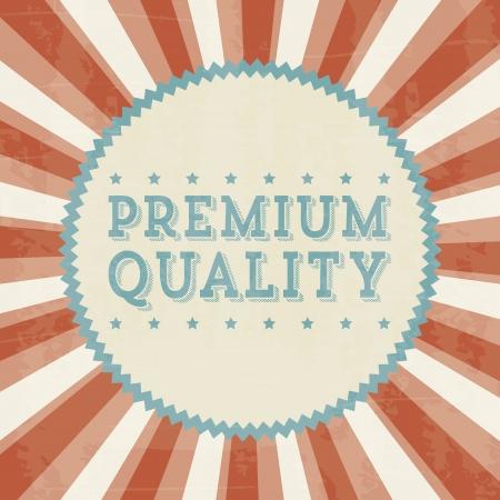 categorized: premium quality over beige background. vector illustration