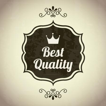 accredit: premium quality over beige background. vector illustration