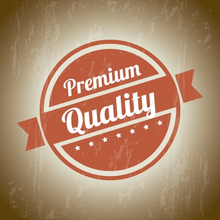 premium quality over beige background. vector illustration Stock Vector - 19626100