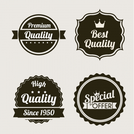 premium quality over beige background. vector illustration Stock Vector - 19625723