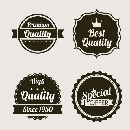 premium quality over beige background. vector illustration Stock Vector - 19625723