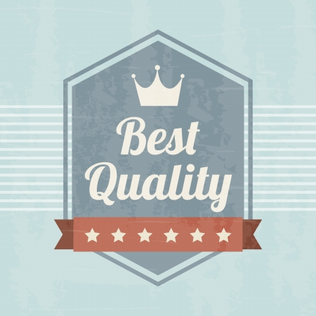 premium quality over blue background. vector illustration Vector