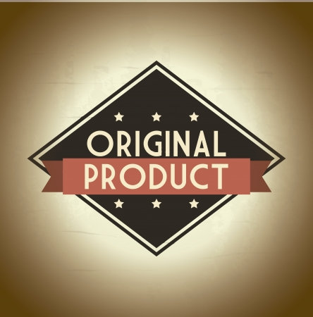 original product over beige background. vector illustration Stock Vector - 19626094