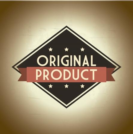 approbation: prodotto originale su sfondo beige. illustrazione vettoriale Vettoriali