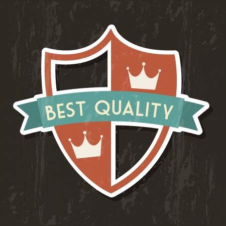 premium quality over black background. vector illustration Stock Vector - 19625922