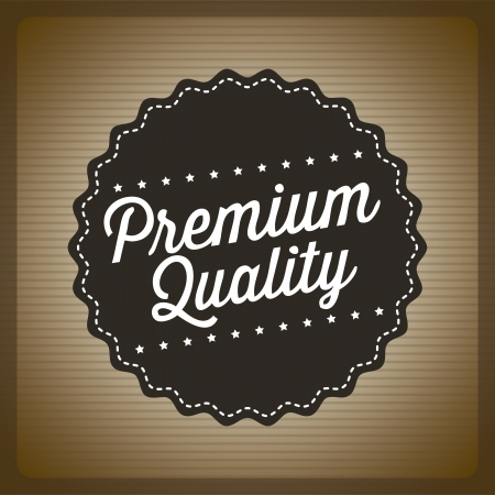 premium quality over brown background. vector illustration Stock Vector - 19625882