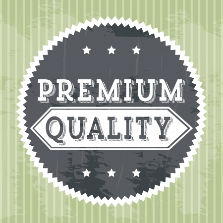 approbation: premium quality over green background. vector illustration Illustration