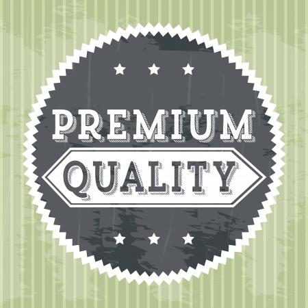 approbation: qualit� premium su sfondo verde. illustrazione vettoriale Vettoriali