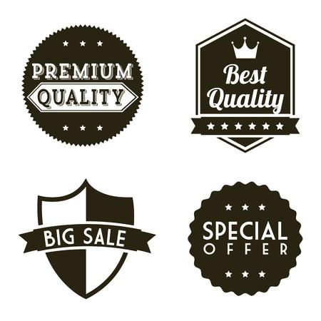 premium quality over white background. vector illustration Stock Vector - 19625719