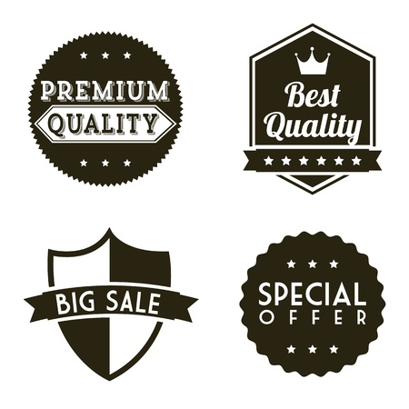 verified: premium quality over white background. vector illustration