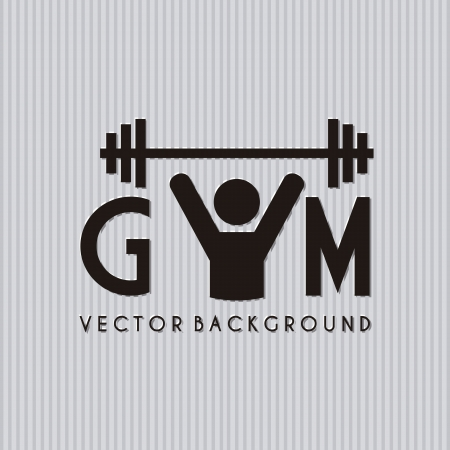 gym symbol over gray background. vector illustration Stock Vector - 19625692