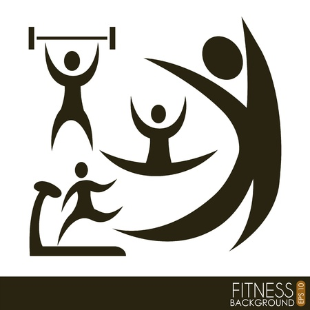 fitness icons over white background. vector illustration Stock Vector - 19625705