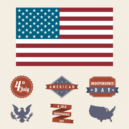 independence day illustration over beige background. vector Vector