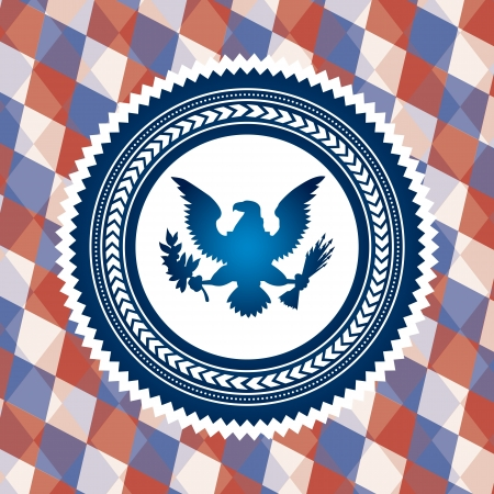 united states symbol, bald eagle. vector illustration Vector