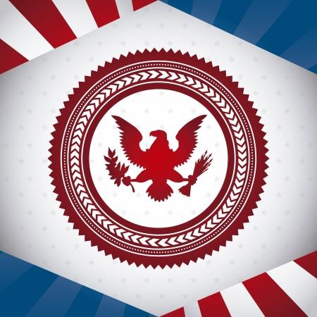 aigle: �tats-Unis symbole, l'aigle chauve. illustration vectorielle Illustration
