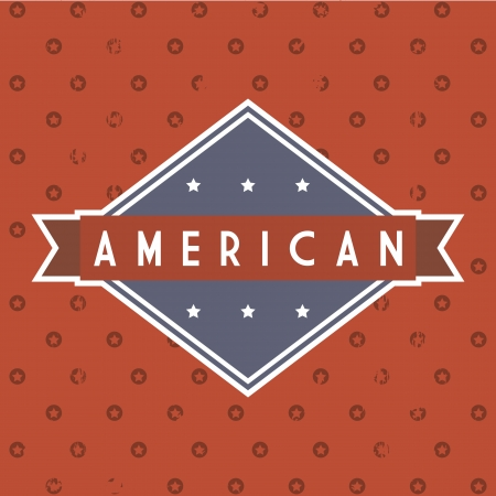 american label over red background. vector illustration Vector