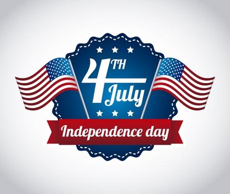independencia: Ilustraci�n del d�a de la independencia sobre fondo gris. vector Vectores