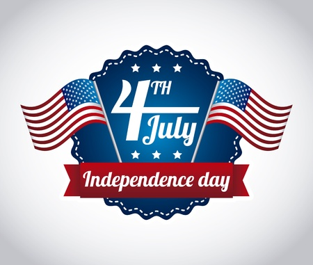 independence day: independence day illustration over gray background. vector Illustration