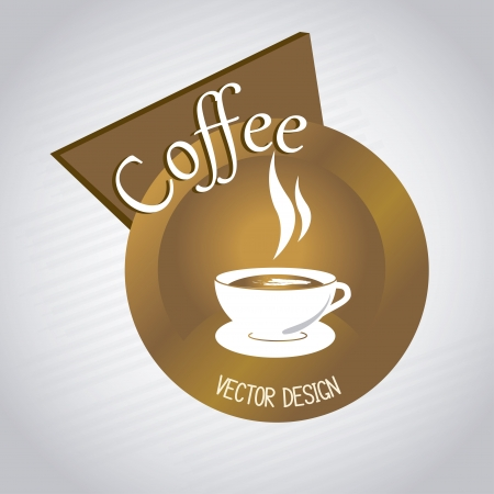 Gold coffee icon over gray background vector illustration Vector