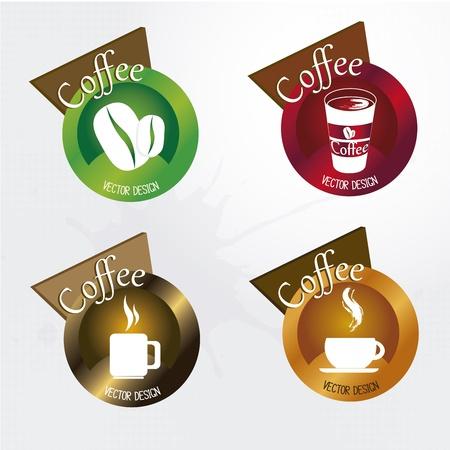 hot chocolate drink: Iconos de caf� sobre fondo blanco ilustraci�n vectorial Vectores