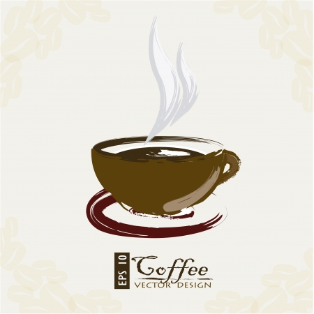 latte: Coffee icon over white background vector illustration