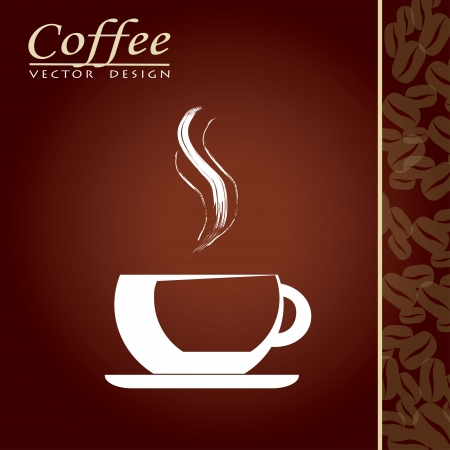 cappuccino: Coffee cup with aroma over brown background vector illustration Illustration