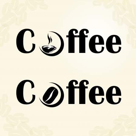 Coffee seal over white background vector illustration Vector