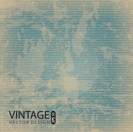 antiqued: vintage pattern over grunge background illustration