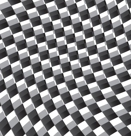 visual effect: grid black and white whit visual effect illustration