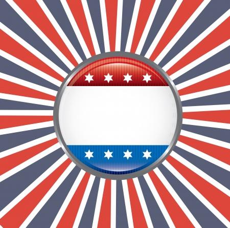 rightwing: shield patriot over flag background illustration Illustration