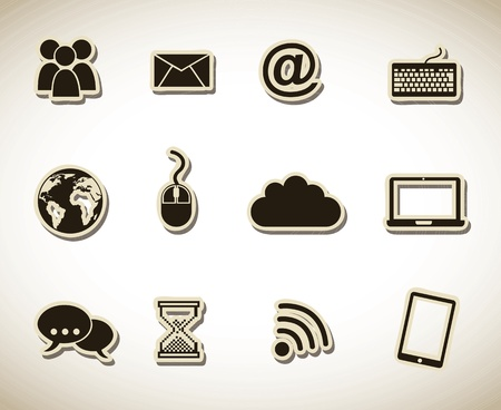 web icons over white background illustration Stock Vector - 19673925