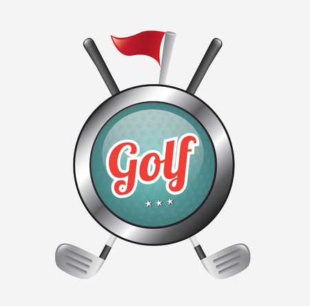 golf icon over gray background illustration Vector