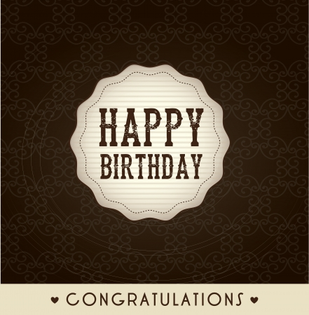frame birthday over country background illustration Vector