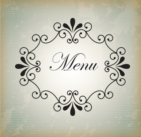 frame menu over vintage gray background illustration  Vector