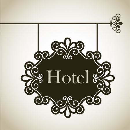hotel frame over vintage background illustration Vector