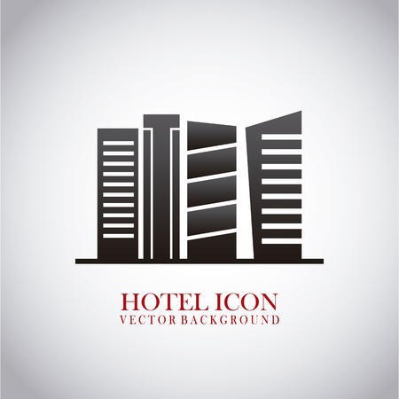 hotel building: hotel icon over light background illustration