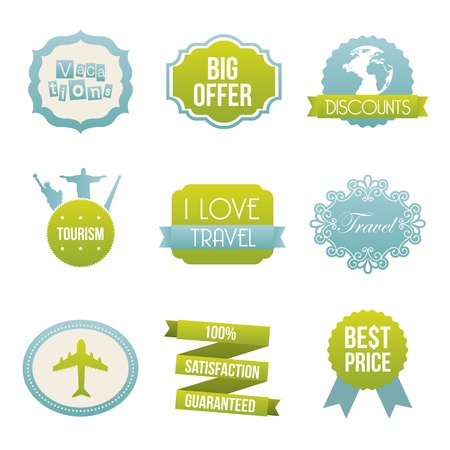 travel icons over  white background illustration Vector