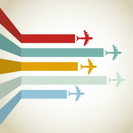 airline: horizontal Aircraft line over vintage background illustration