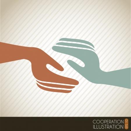 amistad: icono de aplausos durante la vendimia ilustraci�n de fondo Vectores
