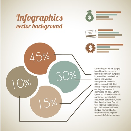 economic Infographics  over vintage background illustartion  Stock Vector - 19674621